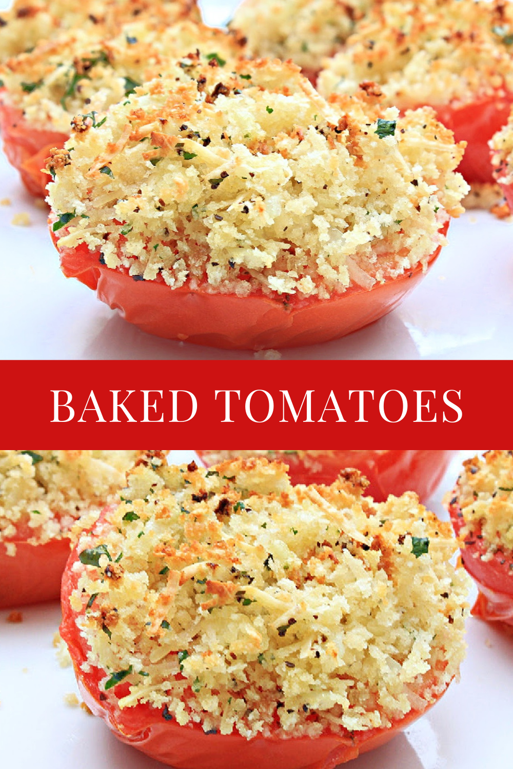 Vine-ripened tomatoes stuffed with savory deliciousness for a quick Italian-style side dish or light meal! via @thiswifecooks