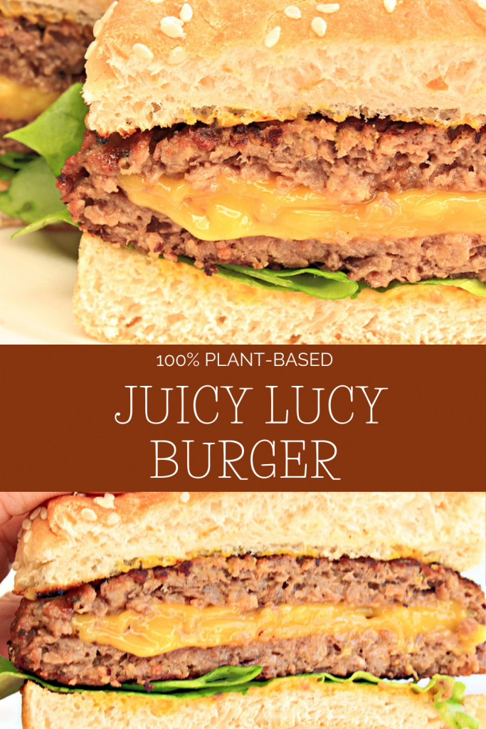Pinterest image for Juicy Lucy Burgers.