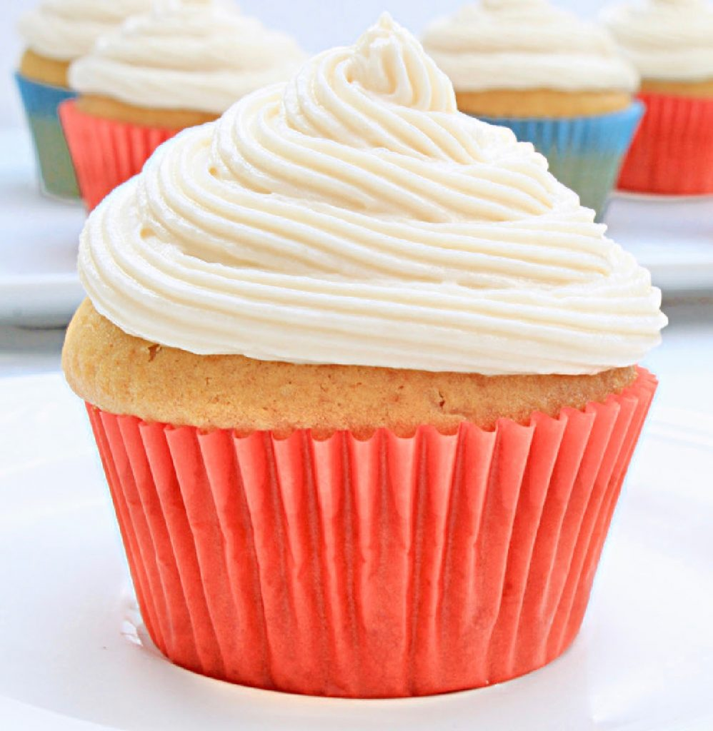 Small Batch Vegan Vanilla Cupcakes ~ A half-dozen light and fluffy dairy-free cupcakes! Easy to whip up for one, two, or just a few.