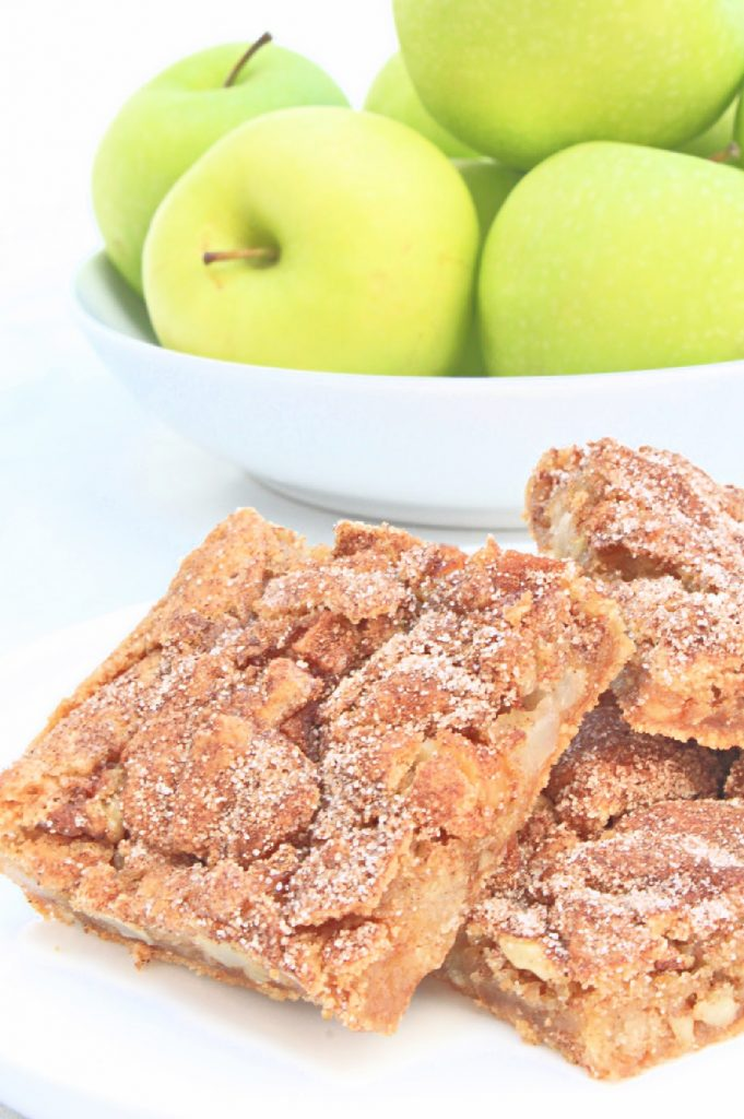 Apple Walnut Bars ~ These dairy-free bars are quick and easy to make. A delicious and fragrant fall dessert or afternoon snack!