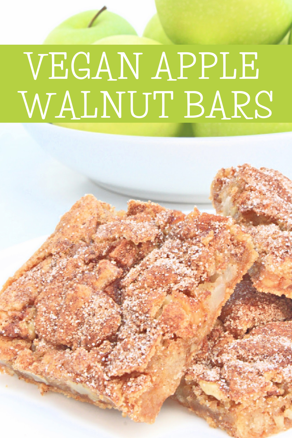 Apple Walnut Bars ~ These dairy-free bars are quick and easy to make. A delicious and fragrant fall dessert or afternoon snack! via @thiswifecooks