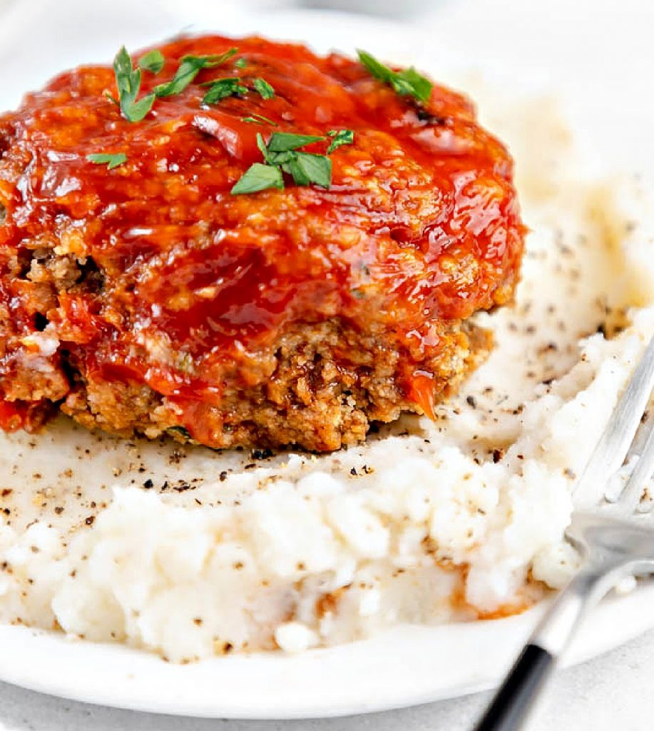 Mini Meatloaves ~ Perfectly portioned and ready in a fraction of the time it takes to bake a traditional meatloaf!