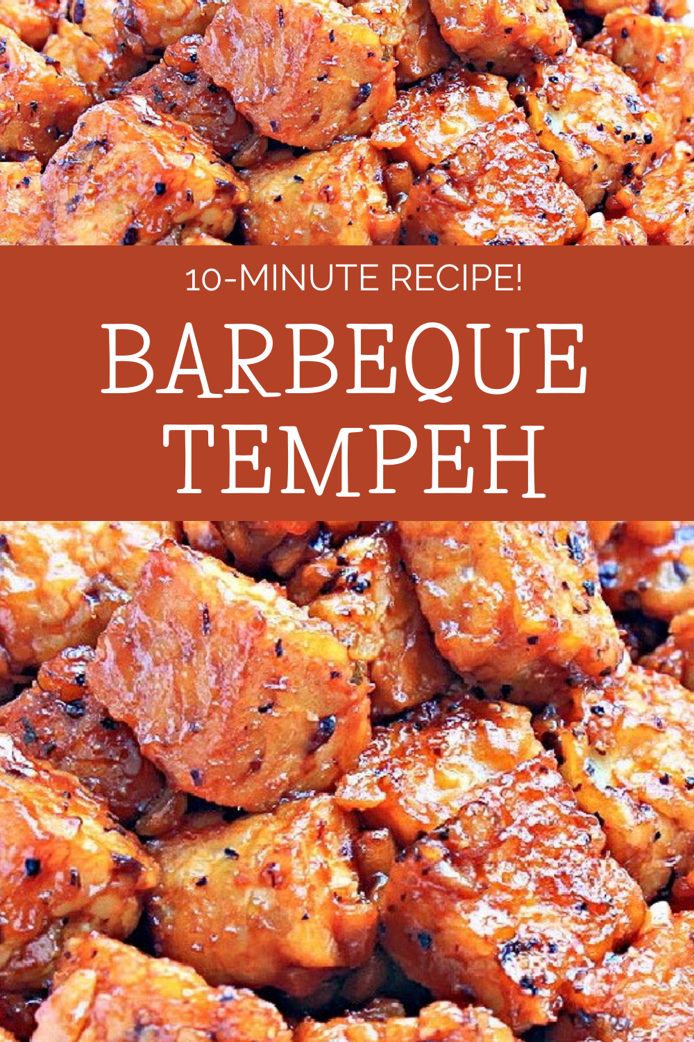 Barbeque Tempeh ~ Six simple ingredients and about 10 minutes are all you need for this delicious, high protein, and plant-based BBQ dish! via @thiswifecooks