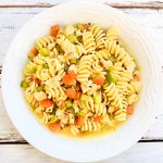 Vegan Chicken Noodle Soup ~ You'll love this homestyle plant-based version of the classic comfort food soup!