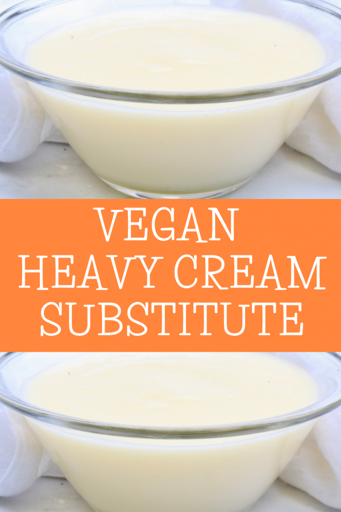 Got a recipe that calls for heavy cream? No problem! Making your own plant-based alternative is quick and easy! Use in any recipe that calls for heavy cream.