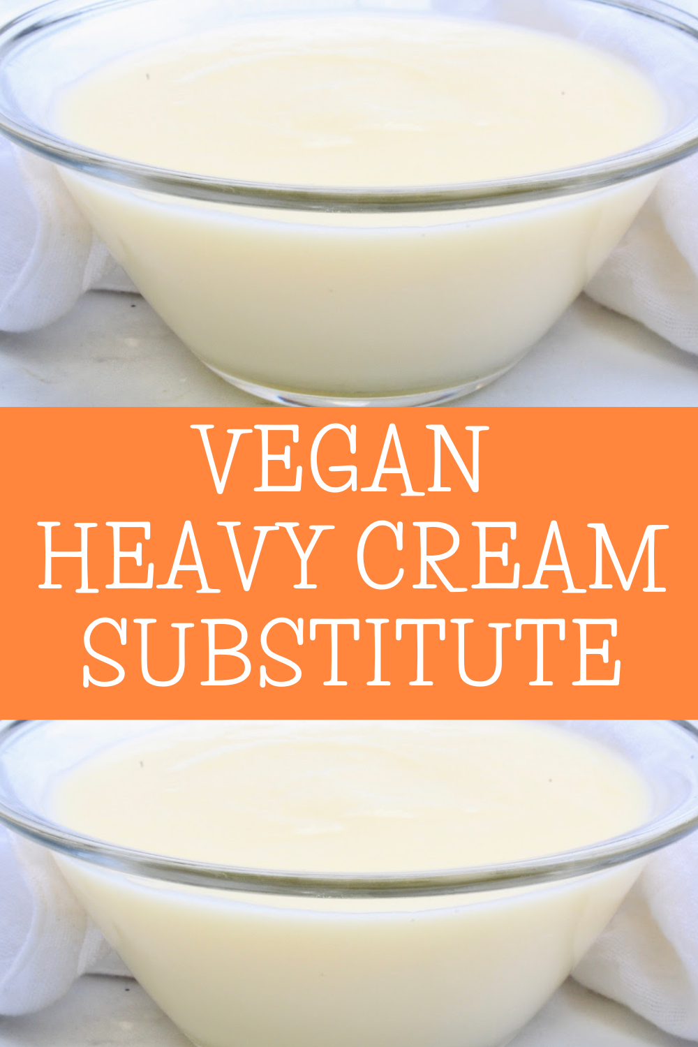 Got a recipe that calls for heavy cream? No problem! Making your own plant-based alternative is quick and easy! Use in any recipe that calls for heavy cream. via @thiswifecooks